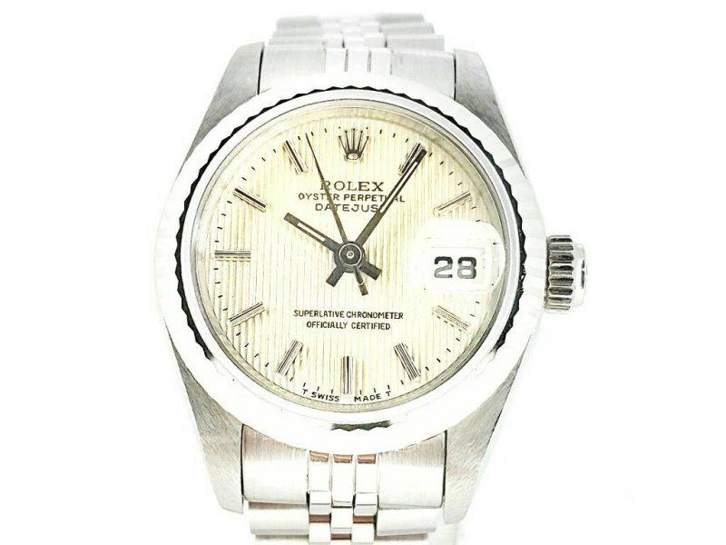 勞力士 69174 原廠特殊條紋面盤 蠔式 自動腕錶