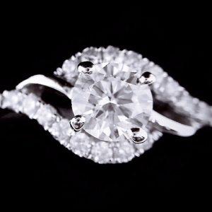 天然美鑽石 設計款鑲鑽女戒