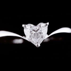 天然心型鑽石戒指 素雅設計款女戒