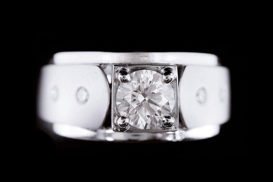天然鑽石戒指 簡約設計款男戒