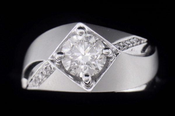 天然鑽石戒指 質感男戒