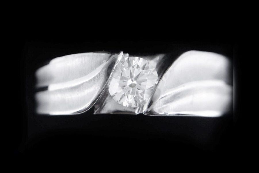 GIA 天然美鑽石 設計款男戒