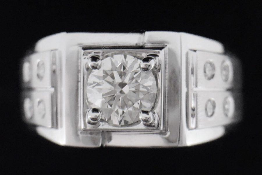 天然鑽石戒指 質感造型男戒