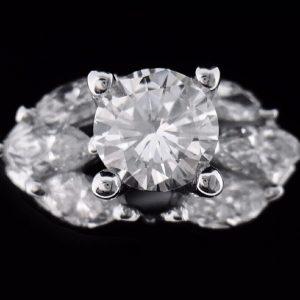 天然美鑽石 設計款豪華鑲鑽女戒