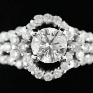 GIA/天然美鑽石/豪華鑲鑽女戒