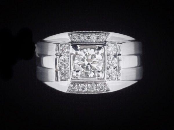 天然美鑽石 型男設計款鑲鑽男戒