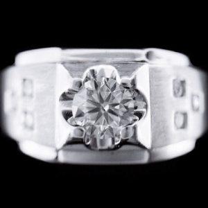 天然鑽石戒指 點鑽設計款 型男御用