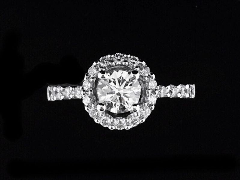 天然鑽石戒指 奢華設計款鑲鑽女戒